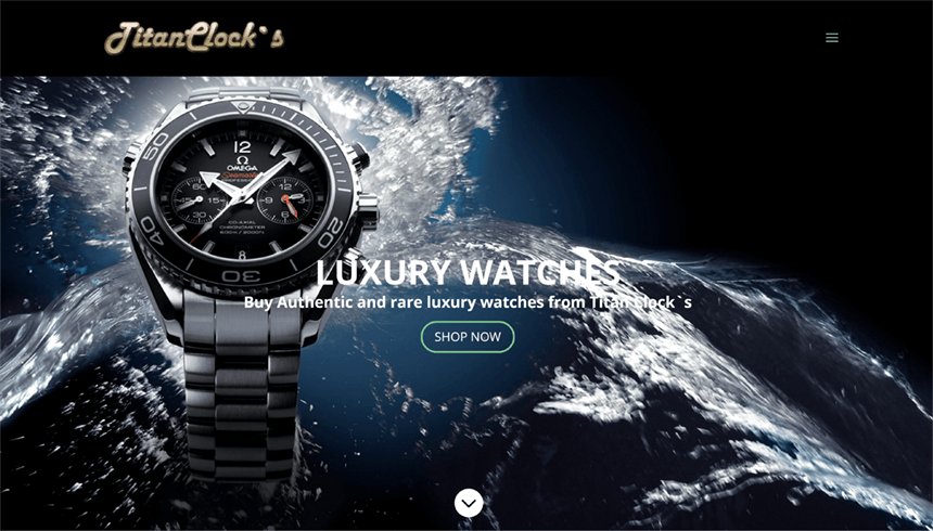 E-store for luxury Swiss watches Tiian Clock`s