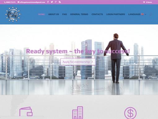 Website for affiliate internet marketing System Ready by D-Soft